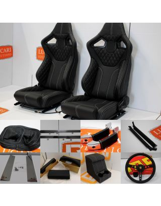 LUCARI Interior kit Leather seats cubby box + more Fits Land Rover Defender TDCI