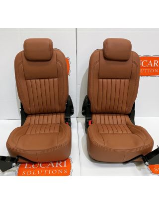 TDCI 3rd row Tan fluted Leather Retrim Cover Kit Fits Land Rover Defender 90/110