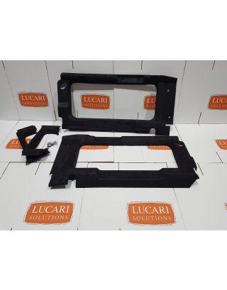 Rear window surround panels black alcantara effect Fits Land Rover Defender 90