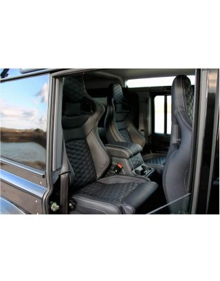 Front + 2nd Row Corbeau seats HEX Leather Cubby Fits Land Rover Defender 110