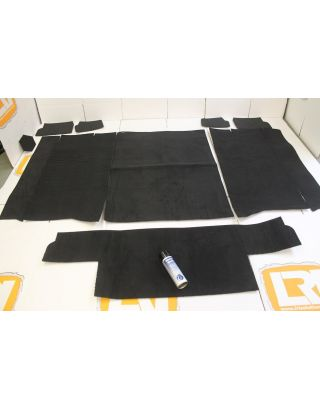 RHD black front rear hard top carpet mat set fits Land Rover Defender TDCI 90