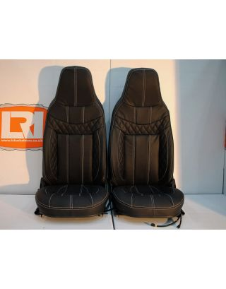 Quilted full leather heated sport front seats runners Fits Land Rover Defender 90/110