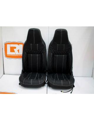 Premium Quilted Leather Retrim & foam Kit Fits Land Rover Defender TDCI 90/110