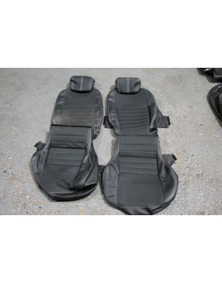 Z21) USED XS half leather rear tumble down seat covers Land rover defender TDCI