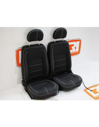 LRI full leather heated TDCI/PUMA front seats Fit Land Rover Defender 90/110