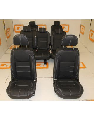 110 PUMA seats leather interior kit front middle rear Fits Land Rover Defender