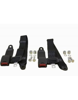 2x NEW rear load area 2 POINT seat/lap belt fit Land Rover Defender 90/110 tdi/td5