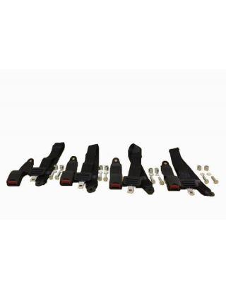 4x rear load area 2 POINT seat/lap belt fit Land Rover Defender 90/110 tdi/td5