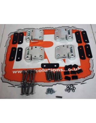 Front Door Door Hinge Set + stainless bolt kit Fits Land Rover Defender 90/110