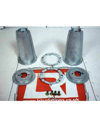 Pair Galvanised Front Top Shock Mount Turrets Fits Land Rover Defender 90/110
