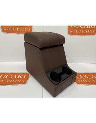 Chocolate leather high arm rest centre cubby box Fits Land Rover Defender 90 110