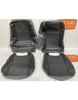 Denim Twill Grey Vinyl retrim cover kit Fits Land Rover Defender TDCI front seats
