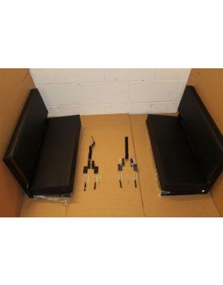 PAIR black vinyl bench seats rear load seats FITS Land Rover Defender 90/110 Series 88/109