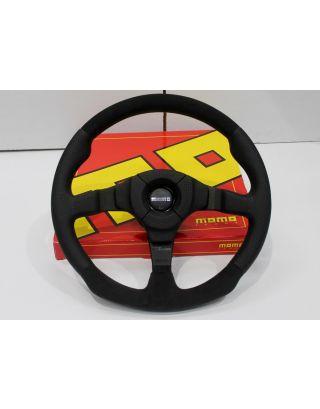"""48 spline MOMO DARK FIGHTER 14"""" steering wheel + boss Fit Land Rover Defender"""