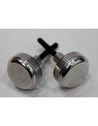 Aluminium pair of screw in fuse box knobs Fit Land Rover Defender TD5 TDI 90 110