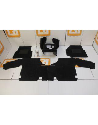 LHD 2.2/2.4 TDCI/PUMA full black front carpet mat set fits Land Rover Defender 90 110