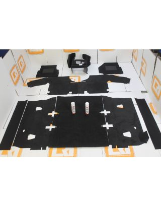 RHD TDCI full black front rear carpet mat set PREMIUM Fit Land Rover Defender 90