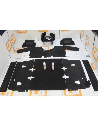LHD TDCI PUMA full black front rear carpet mat set fits Land Rover Defender 90