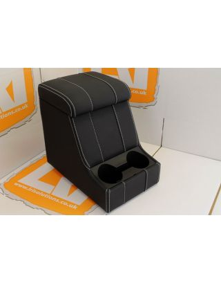 LRI white stitch LEATHER arm rest cubby box Fit Land Rover Defender 90 110
