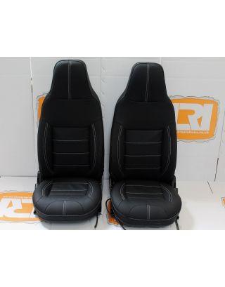 Pair Premium Leather seat Retrim service Kit Fits TDCI Land Rover Defender 90/110
