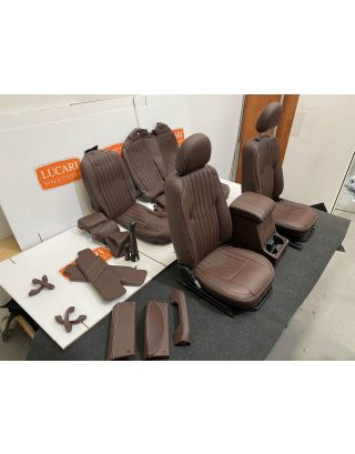 Chocolate fluted leather interior seats + trim Fits Land Rover Defender 110 DCPU
