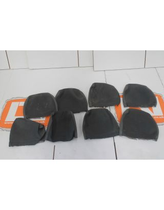 (A) JOB LOT of USED Land Rover PRE 2007 grey twill vinyl headrest covers