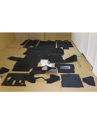 LHD LT77 full black front rear carpet mat set Fits Land Rover Defender 110 200 tdi/TD/NA