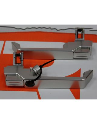 Aluminium pair of exterior door handles RH KEY 90 110 Fit Land Rover Defender