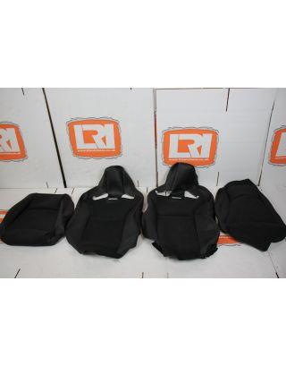 Ambla & Dinamica black leather Recaro CS low base front seat covers new take off