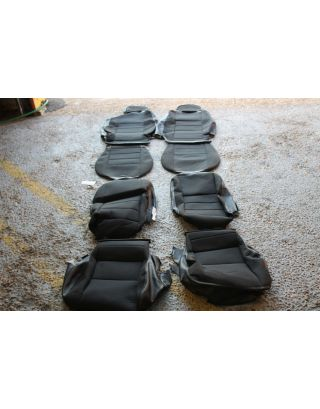 (27) USED Land Rover Defender TDCI 90 4 seat interior cover kit black cloth front + rear
