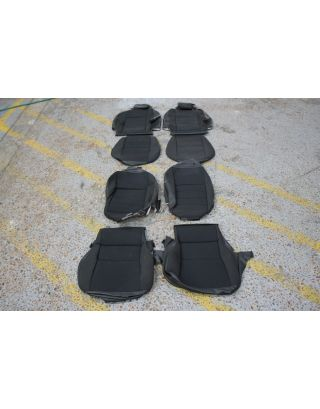 29) USED Land Rover Defender TDCI 90 4 seat interior cover kit black cloth front + rear