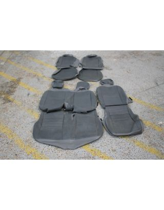 34) USED Land Rover Defender TDCI 110 front & middle grey vinyl seat covers