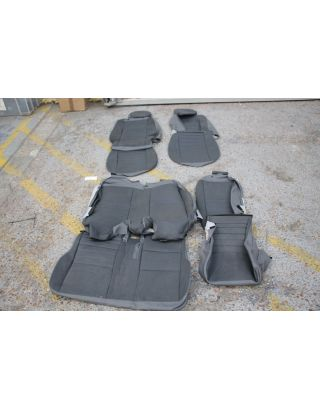 35) USED Land Rover Defender TDCI 110 front & middle grey vinyl seat covers