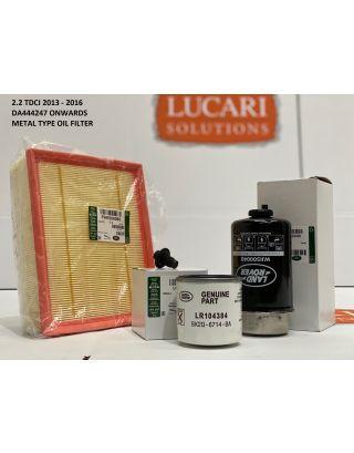 Genuine Land Rover Defender service filter kit fits 2.2 TDCI 2013-16 90/110