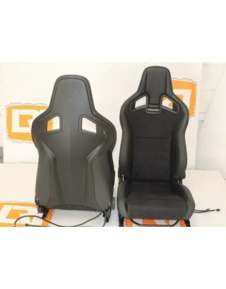 Part suede/leather heated Recaro pair front seats Fit Land Rover Defender 90/110