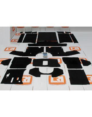 LHD R380 full black front+rear carpet mat set fits  Land Rover Defender 90 300 tdi/TD5