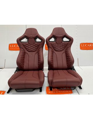 RXI low base pair full burgundy leather front seats Fit Land Rover Defender