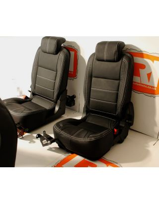 Post 07 Tumble Down Full Leather Pair Retrim Cover Kit Fits Land Rover Defender 90/110