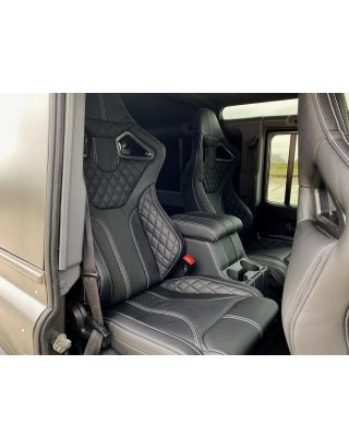 Front + 2nd Row RXI Leather sport seats + Cubby Fit Land Rover Defender TDCI 110