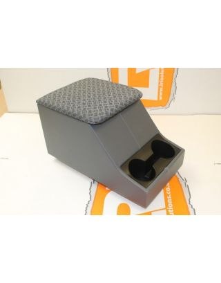 Techno grey cloth front centre cubby box Fits Land Rover Defender 90/110