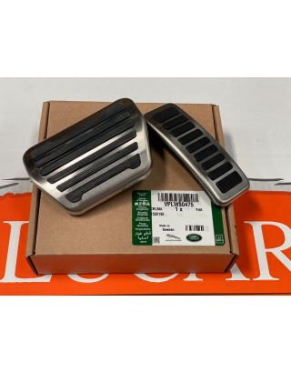 Genuine Land Rover Defender 2020+ bright stainless steel & rubber pedal covers