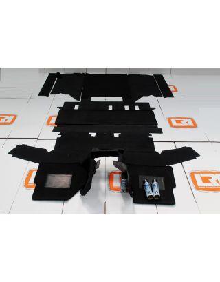 RHD 110 TDCI 5 seat utility black front rear carpet set Fits Land Rover Defender