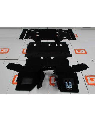 RHD TDCI 7 seat full black front rear carpet mat set Fit Land Rover Defender 110