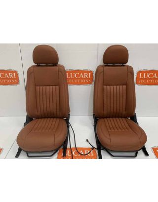 Twin Post Tan fluted Leather Pair Retrim Cover Kit Fit Land Rover Defender TDCI