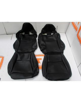Ambla black leather Recaro CS low base front seat covers new take off