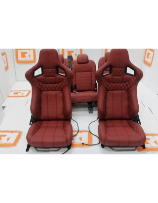 Corbeau Full Leather seats + RETRIM SERVICE For Land Rover Defender 110 TDCI Middle