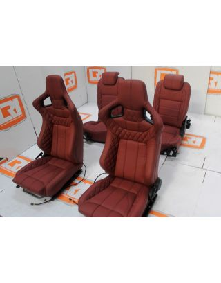 Corbeau Leather Front seats + Retrim Service For Land Rover Defender TDCI 90 Rear