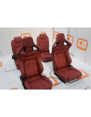 LRI full burgundy leather 4 seat interior fit Land Rover Defender 90 TDCI PUMA