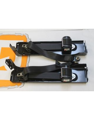 OEM Land Rover Defender rear forward facing seat belts and brackets pair 90/110