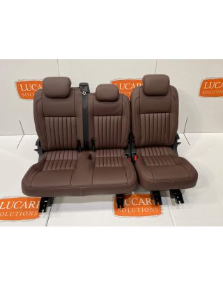 TDCI Chocolate fluted 60/40 Leather Seat Retrim Fits Land Rover Defender 110